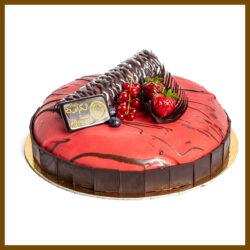 Raspberry Cream Cake-Torta